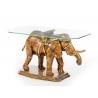Table basse en forme d'éléphant