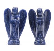 Paire d'anges en lapis lazuli