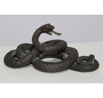Serpent en bronze