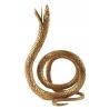 """Bougeoir """"Serpent enroulé"""" en laiton doré"""