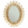 Miroir ovale tubes dorés