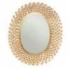 Miroir ovale boules dorées