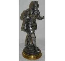 """Bronze """"Homme à la loupe""""."""
