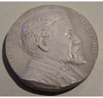 """Médaille en plâtre """"Charles FULPIUS"""""""
