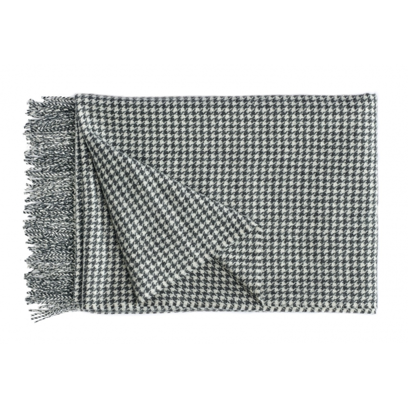 Plaid Gentleman en laine d Alpaga noir et blanc - Moinat SA ... a14043b08b9