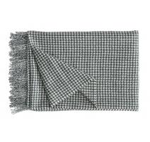 Plaid Gentleman en laine d'Alpaga noir et blanc