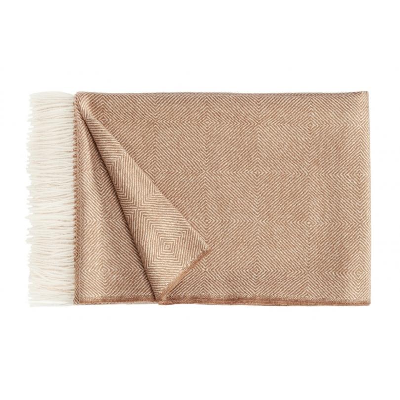 Plaid Noble en laine d Alpaga beige - Moinat SA - Antiquités décoration 7351ffa5b98