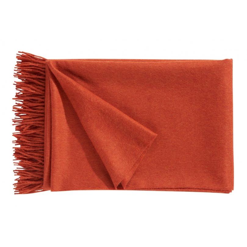 Plaid Puro en laine d Alpaga coloris corail - Moinat SA - Antiquités ... efc4b353896