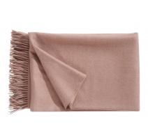 Plaid Puro en laine d'Alpaga coloris Vieux rose