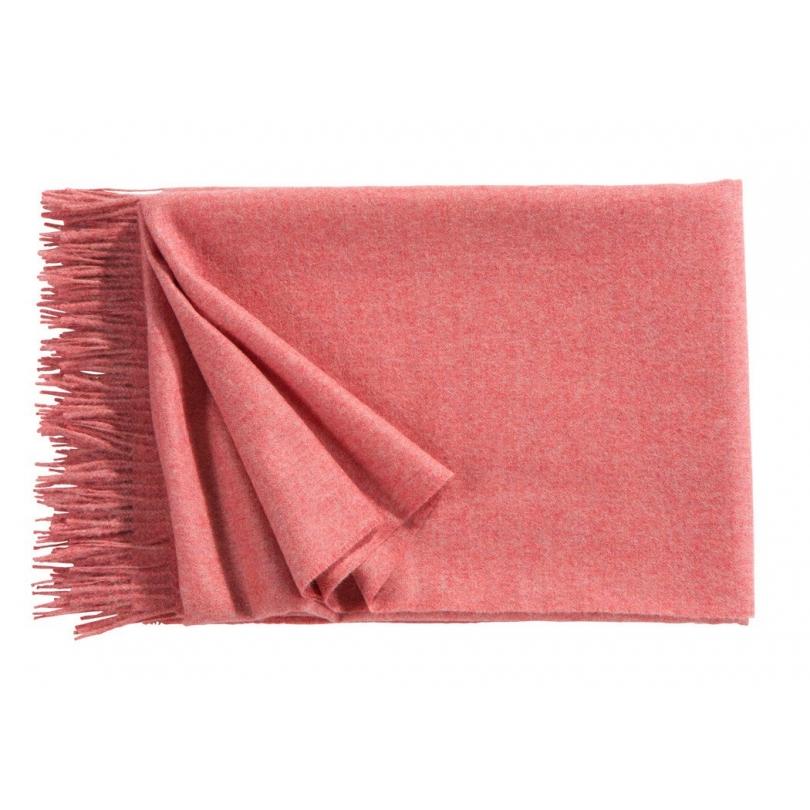 Plaid Puro en laine d Alpaga coloris Rose flamant - Moinat SA ... ef534207d6e