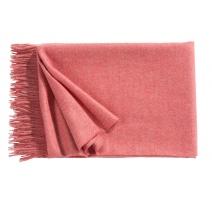 Plaid Puro en laine d'Alpaga coloris Rose flamant
