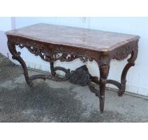 Table à gibier Régence décor de treillis