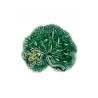 Feuille de géranium en faïence verte Grenouille