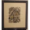 "Gravure ""Mésanges bleues"" signée Robert HAINARD"