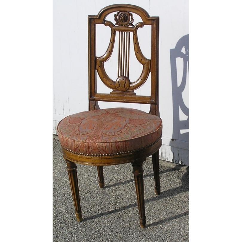 Chaise Louis XVI dossier lyre