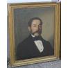 Tableau portrait Homme signé CAVALLI mai 1862