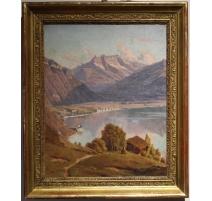 """Tableau """"Lac Léman"""" signé VUILLERMET"""