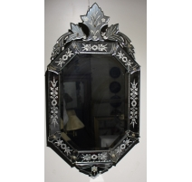 Miroir en verre gravé de Murano