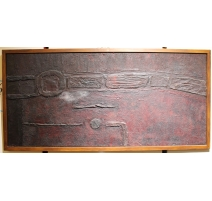 Grand tableau abstrait signé G. CERUTTI 7.65