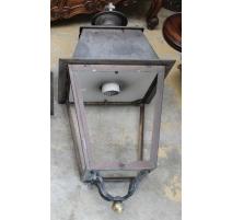 Grande lanterne carrée en cuivre à suspendre