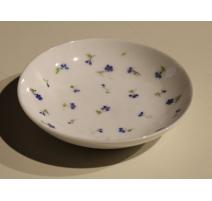 Soucoupe en porcelaine de Nyon décor bleuet