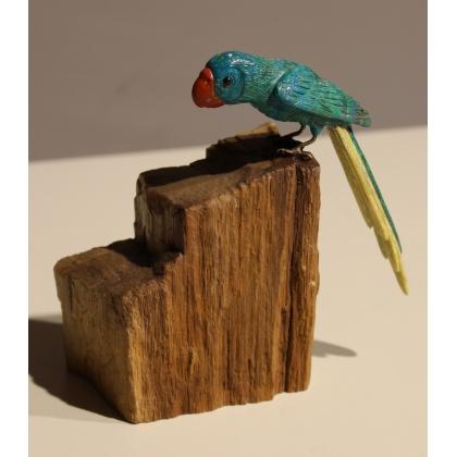 Perroquet en pierre dure