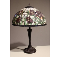 Lampe style Tiffany, décor iris