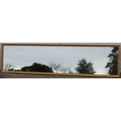 Miroir allongé à baguette Louis XVI simple dorée