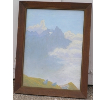 "Pastel ""Mountain"", monogrammed"