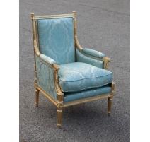 Bergère style Louis XVI dorée