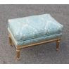 Repose-pieds style Louis XVI doré