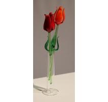 Paire de tulipes en verre de Murano