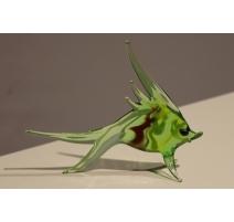 Poisson vert en verre de Murano