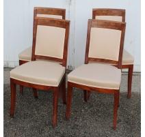 Suire de quatre chaises Directoire
