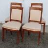 Suite de quatre chaises Directoire