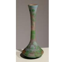 Vase soliflore vert et orange signé CROISMARE