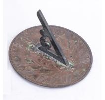 Cadran solaire anglais en cuivre