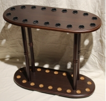 Cane stand, wenge for 8 sticks