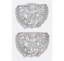 Boucle de ceinture Art Nouveau en argent 925