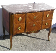 Transition marquetry commode w