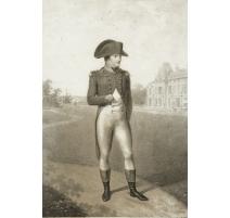 """Gravure """"Bonaparte"""" par ISABEY à la Mal-maison"""