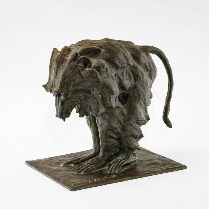 """Bronze """"Babouin"""" signé G. RIGHETTI 1919"""