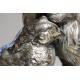 Couple de faisans Art Déco en galvanoplastie