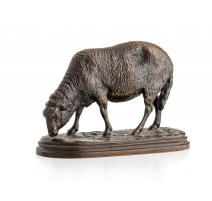 "Bronze ""Mouton au paturage"" signé Rosa B"