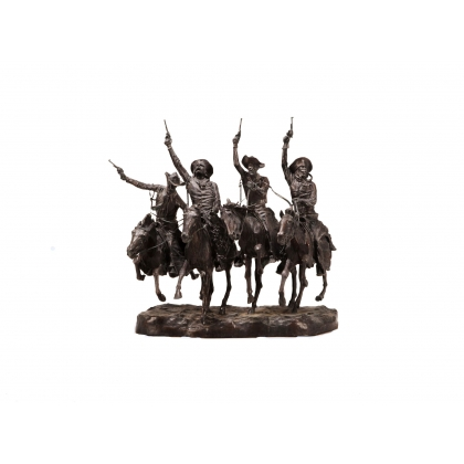 "Bronze ""Coming through the Rye"" d'après REMINGTON"