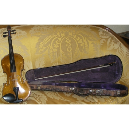 Violin with case signed Staine