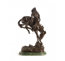 "Bronze ""Outlaw"" d'après REMINGTON"