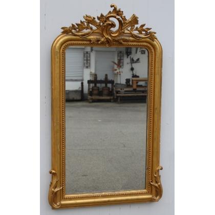 Miroir Louis-Philippe en bois doré
