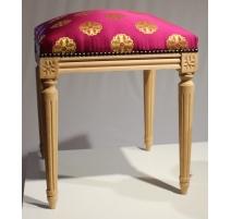 Tabouret style Louis XVI en hêtre brut
