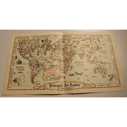 Carte du monde avec les routes aériennes